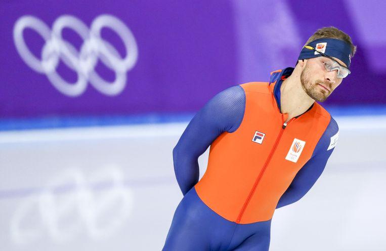 Kjeld Nuis maakt in Zuid-Korea zijn eerste Olympische Spelen mee. 'Het is eigenlijk een iets groter WK afstanden.' Beeld ANP