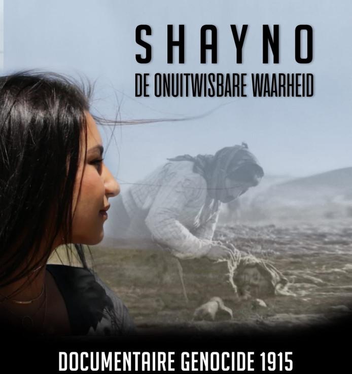 Shayno op de poster van haar documentaire.