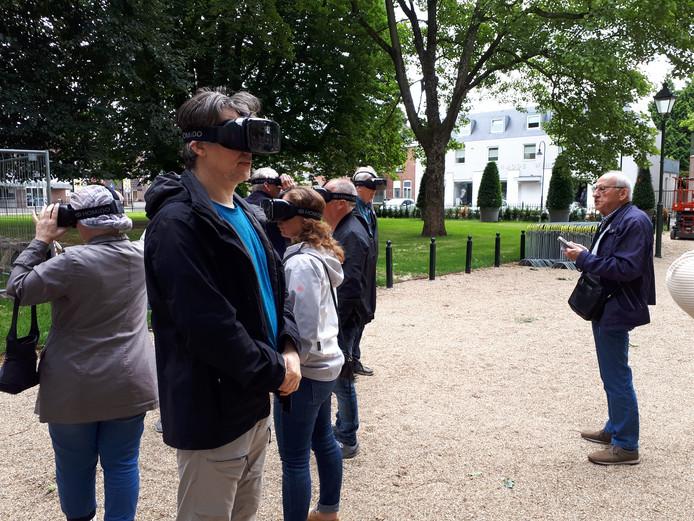 Het Jan Cunenpark was één van de locaties waar de virtuele wandeling doorheen trok.