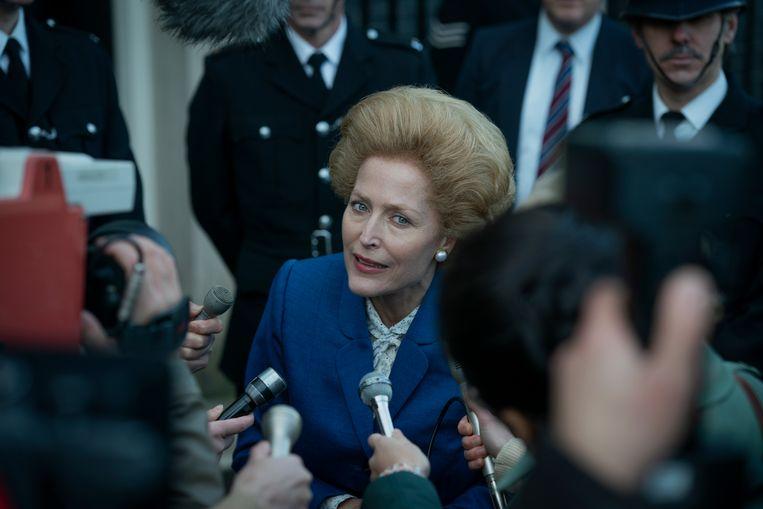 Gillian Anderson als Margaret Thatcher. Beeld AP