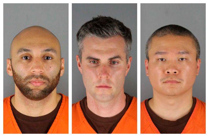 Ook de drie andere agenten zijn aangeklaagd (vlnr): Alexander Kueng, Thomas Lane  en Tou Thao.