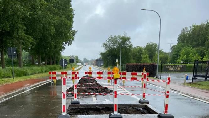 Postelsesteenweg twee weken afgesloten voor herstelling zinkgat