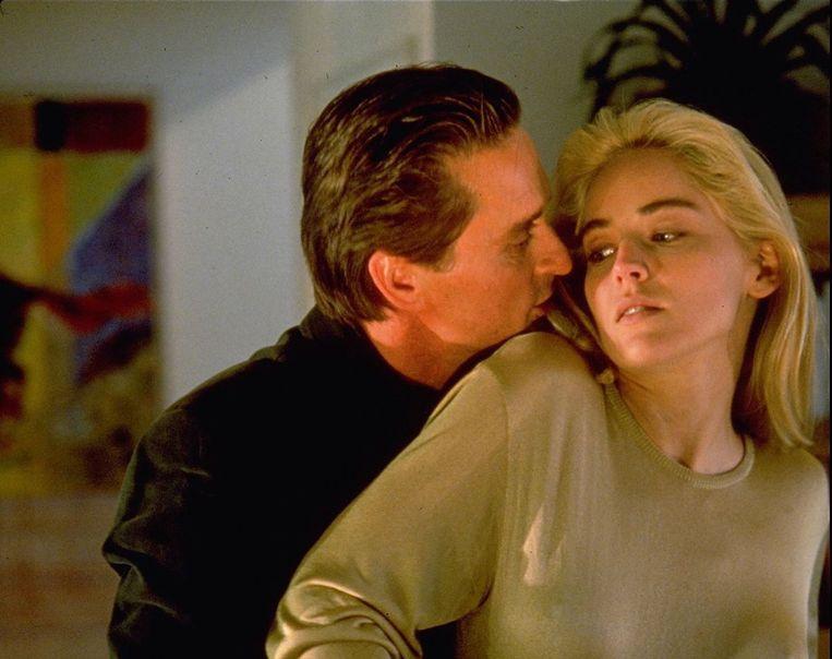 Michael Douglas en Sharon Stone. De passie spatte van het scherm.  Beeld IMAGEGLOBE