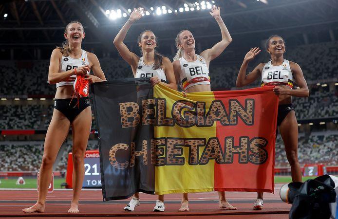 De Belgian Cheetahs eindigden als zevende in de finale. Ze liepen net als in de reeksen een nieuw Belgisch record.