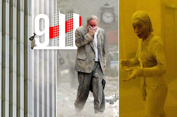 'The Falling Man', Edward Fine en Marcy Borders: drie Amerikanen die op 9/11 vereeuwigd werden op wat later iconische foto's zouden blijken. Eén van hen is vandaag, twintig jaar later, nog in leven.