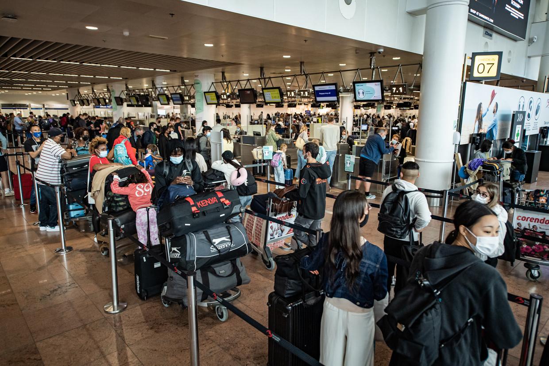 Zaventem slikt vele duizenden passagiers per dag. Beeld Joel Hoylaerts / Photo News