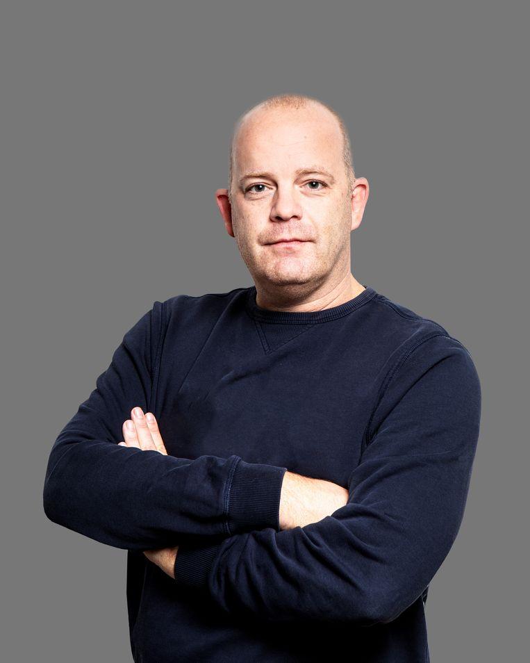 Wouter Laumans, misdaadjournalist van Het Parool. Beeld Hilde Harshagen