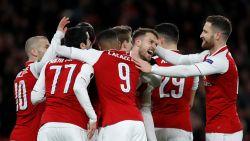 Arsenal met anderhalf been in halve finale Europa League, Atlético rekent af met Sporting