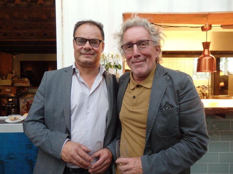 Louis Pirenne (stadsdeel Nieuw-West): 'Weg uit de binnenstad, en op naar Nieuw-West.' Met Peter van der Hoop (Kunstraad) Beeld Hans van der Beek