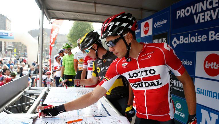 Stig Broeckx tijdens de Ronde van België. Beeld photo_news