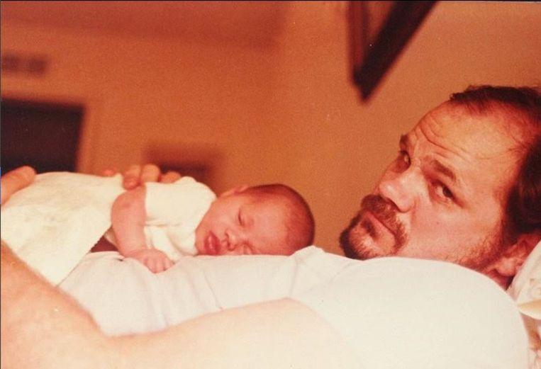 Thomas Markle met de kleine Meghan.