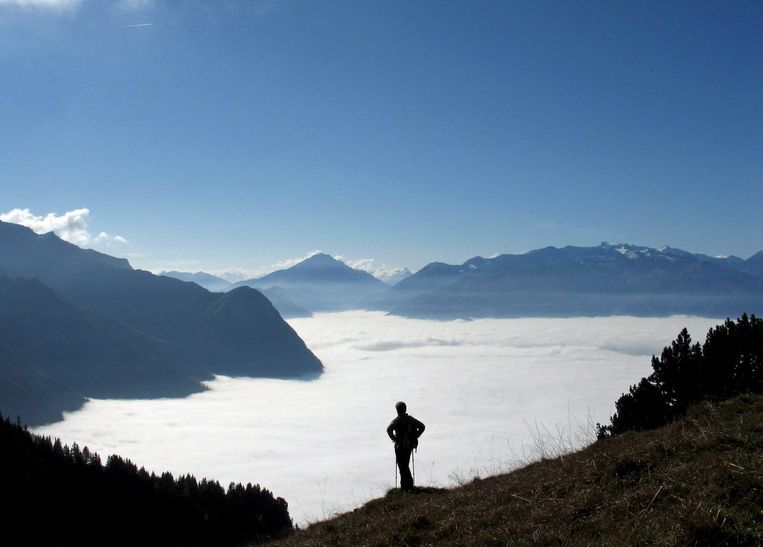 Zicht op de Zwitserse bergen. Beeld anp