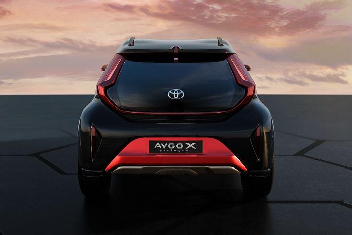 Het conceptmodel van de nieuwe Toyota Aygo.
