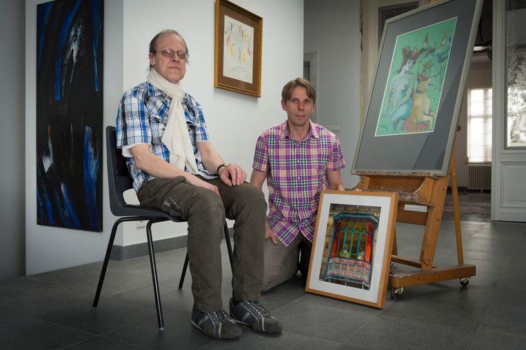 Een archiefbeeld van Dirk Gooris en Kristoff Meersman, naar aanleiding van een vorige editie van de Kunstvestdagen