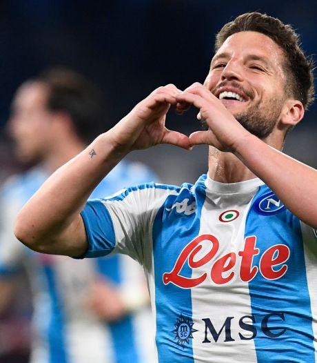 Dries Mertens marque et s'offre un nouveau record lors de la large victoire de Naples face à la Lazio
