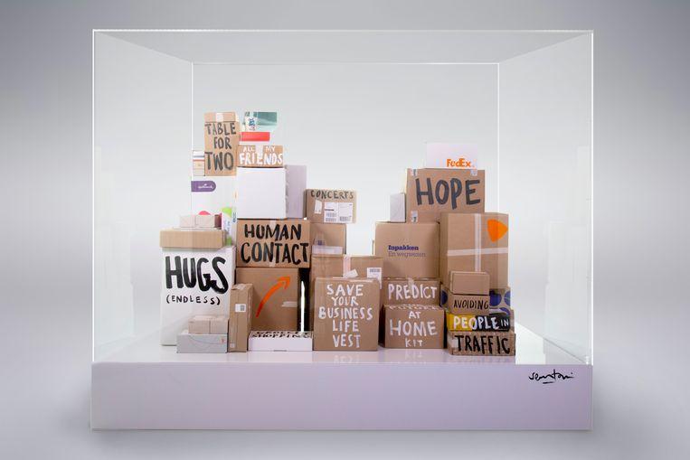 Boxes of Hope and Dreams. Beeld &SAMHOUD