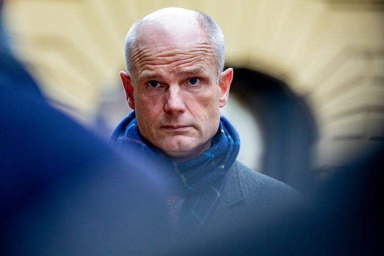 Minister Stef Blok van Buitenlandse Zaken (VVD) bij aankomst op het Binnenhof voor de wekelijkse ministerraad.  Beeld BSR Agency