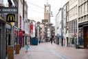 Lege winkelstraten in Nijmegen, dus ook geen zakkenrollers actief.