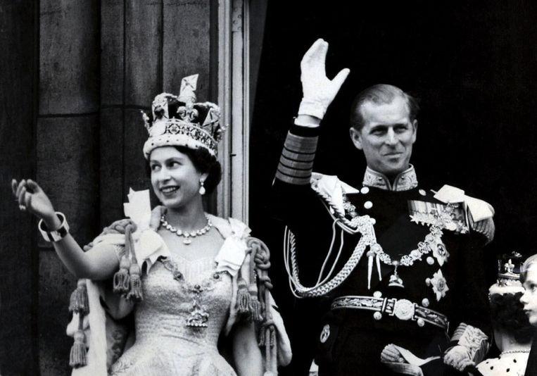 Queen Elizabeth II en haar man Philip.