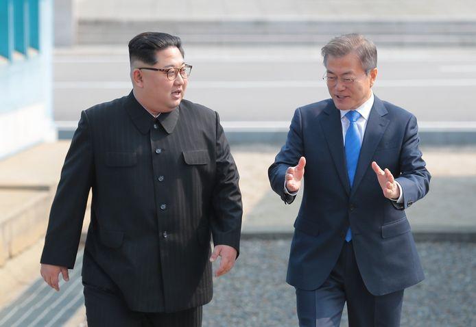 De Noord-Koreaanse leider Kim Jong-un en de Zuid-Koreaanse president Moon Jae-in hadden vorige week een historische ontmoeting.