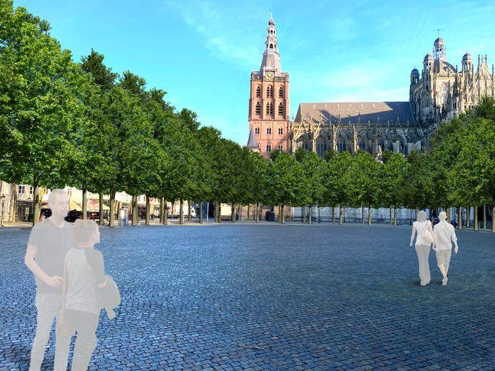 Een grove indruk van het nieuwe aanzien van de Parade met 122 nieuwe bomen.