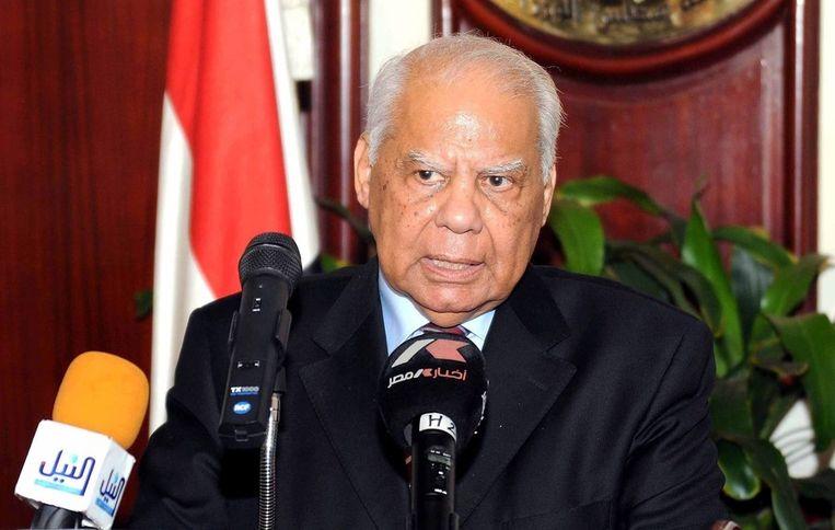 Interim-premier El-Beblawi. Beeld ANP