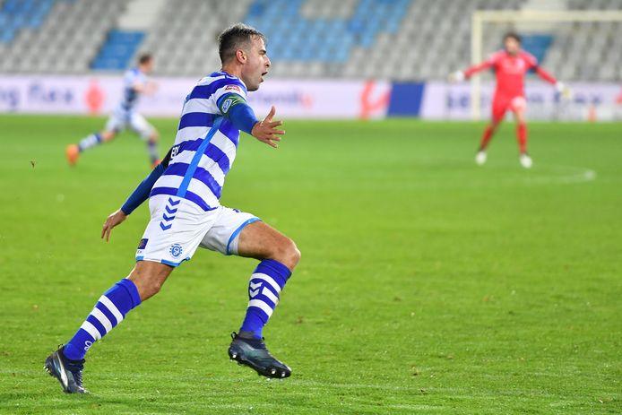 Ralf Seuntjens, nu gepasseerd, scoorde in de thuiswedstrijd tegen Jong PSV ver in blessuretijd de verlossende 2-1.