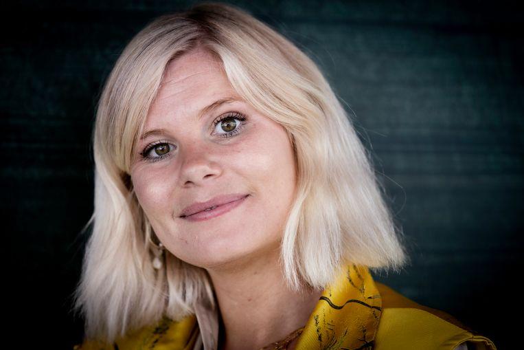 De Deense tv-presentatrice Sofie Linde verbouwereerde de kijkers van een live-uitzending met een openbaring, en bracht zo de #MeToo-beweging op gang. Beeld Hollandse Hoogte / AFP