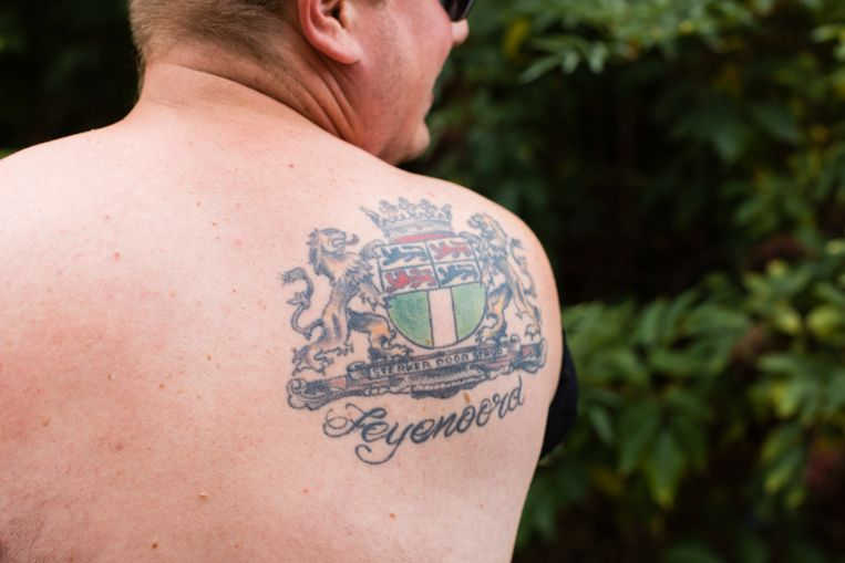Feyenoord gecombineerd met het wapen van Rotterdam. Beeld Boek Feyenoord Forever