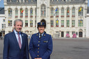 Burgemeester Lieven Dehandschutter en korpschef Gwen Merckx stelden woensdag het jaarverslag voor van de politie Sint-Niklaas.