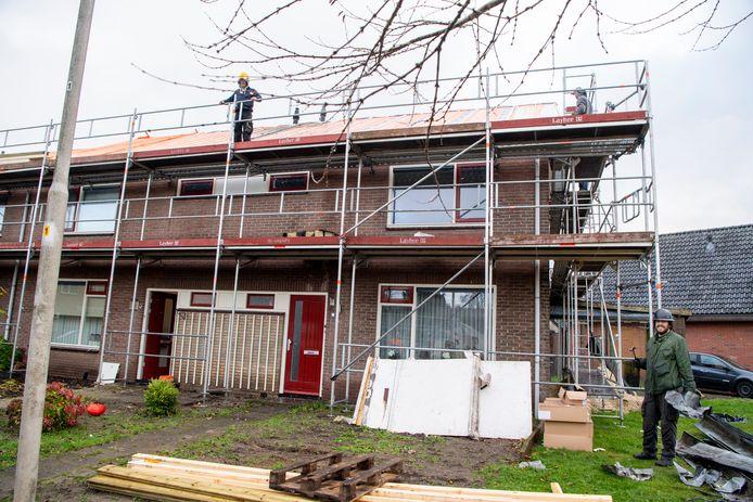 In Hardenberg worden op het moment aan de Irenestraat en Beatrixstraat huizen verduurzaamd.