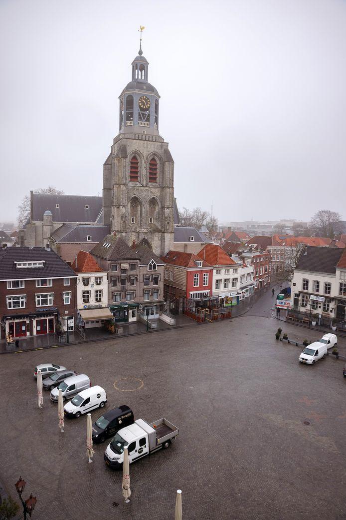 Ook de Grote Markt is straks voetgangersgebied is de bedoeling.
