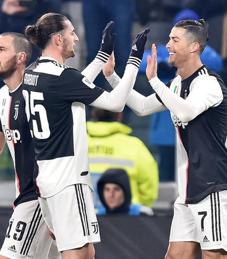 De Ligt-loos Juventus moeiteloos langs Kluivert en AS Roma