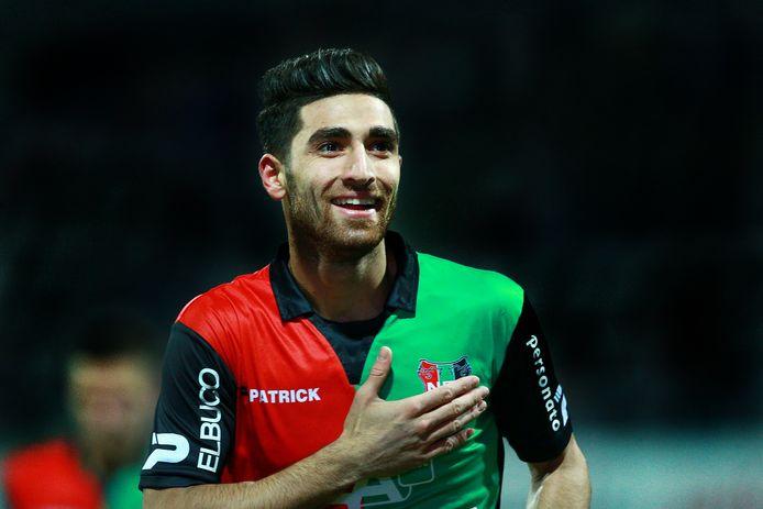 Alireza Jahanbakhsh geniet in het shirt van NEC. FOTOBRONfoto VIImages