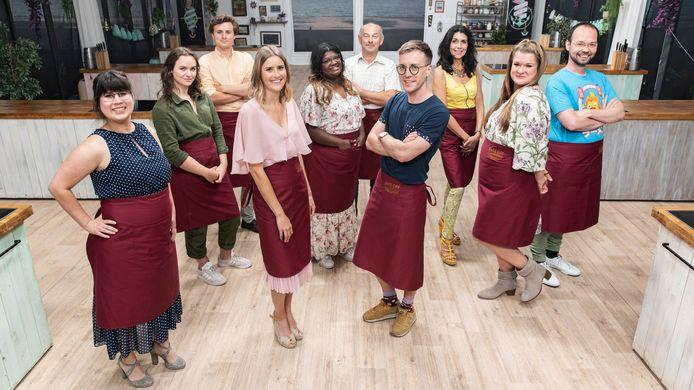 De kandidaten van 'Bake Off' dit jaar: Carlota, Mona, Anthony, Alexandra, Asha, Franky, Jens, Diane, Margo en David