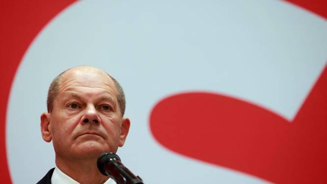Kanselierskandidaat Olaf Scholz vindt dat CDU/CSU voor oppositie moet kiezen