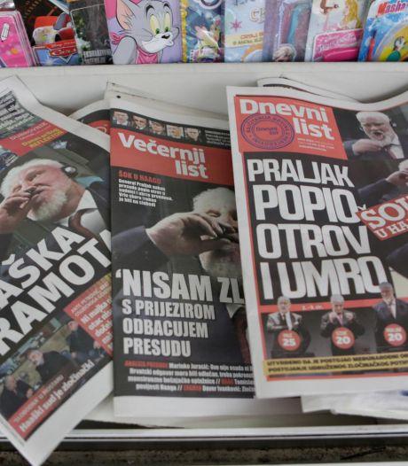 """Slobodan Praljak a absorbé un """"produit chimique pouvant entraîner la mort"""""""