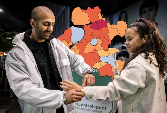 De coronakaart van 13 oktober van deze regio.