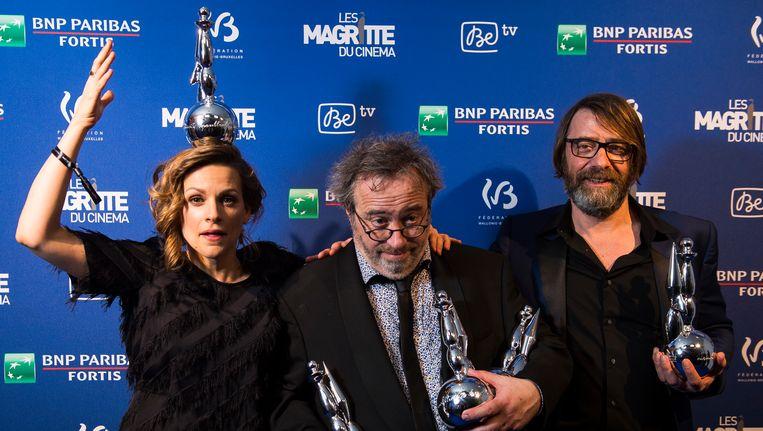 Veerle Baetens, Jaco Van Dormael en Wim Willaert vielen gisteravond in de prijzen. Beeld BELGA