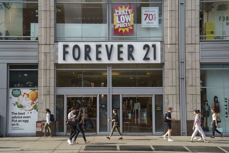 Een Forever 21 winkel op Union Square, New York City. Beeld AFP