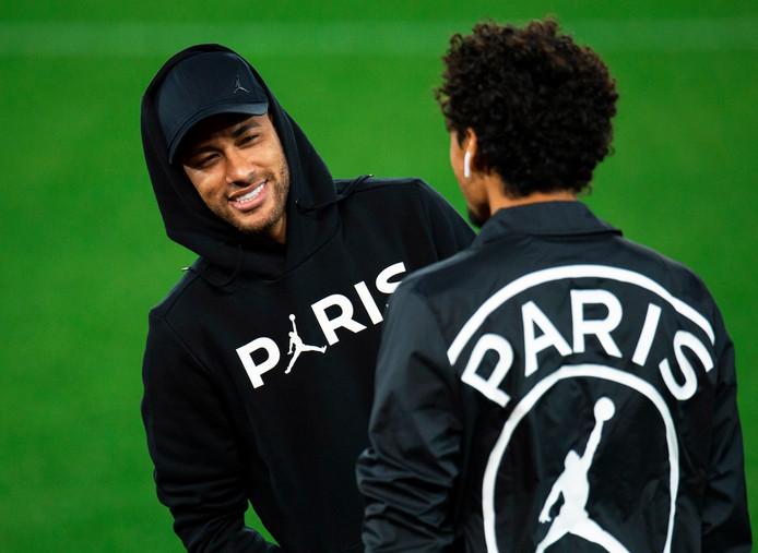 Neymar en Marquinhos op Anfield.