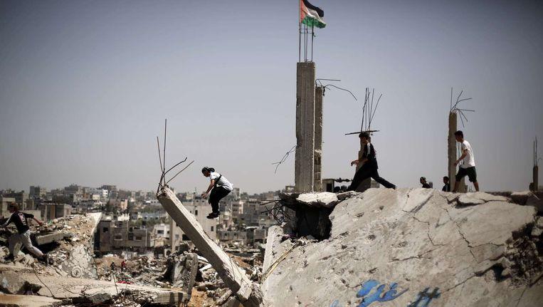 Jongeren in Gaza-stad Beeld afp