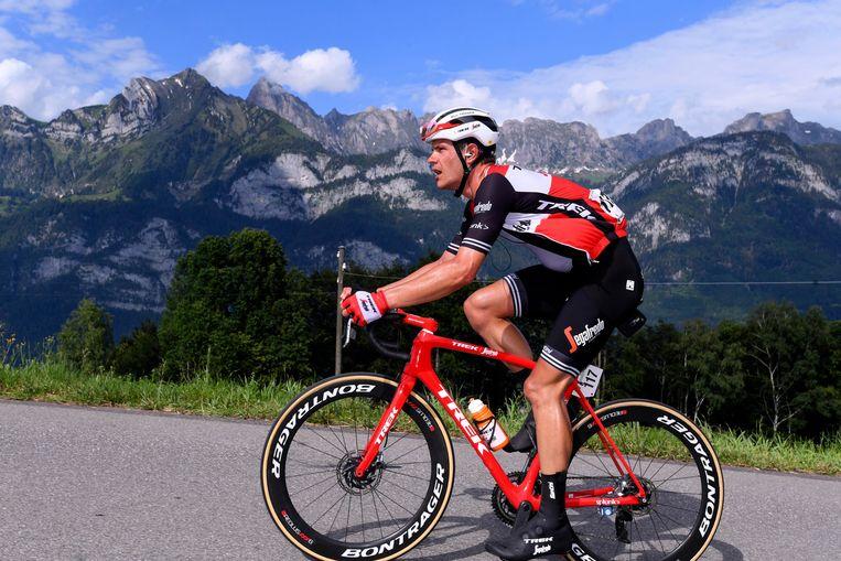 Jasper Stuyven (Trek-Segafredo) tijdens de Ronde van Zwitserland vorige week