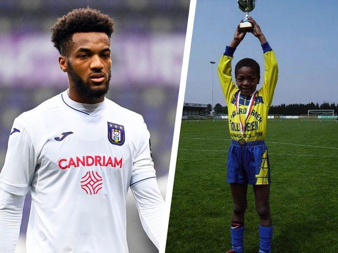 Delcroix nu bij Anderlecht en als jeugdspelertje.