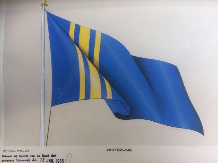 De oude gemeentevlag van Oisterwijk