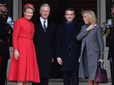 Le Roi et la Reine ont accueilli Emmanuel Macron