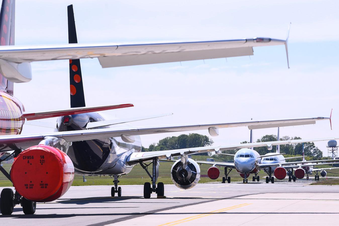 Des avions Brussels Airlines sur le tarmac de Zaventem.