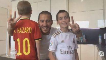 """Eden Hazard vraagt zoontjes in Frans kookprogramma wat zijn specialiteit is in de keuken: """"Niets!"""""""