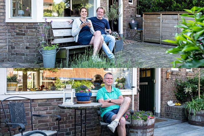 Bewoners van het gewilde Vermeerkwartier. Boven: Eva en Azarja (Hobbemastraat). Onder: André Koeslag (Jozef Israëlsstraat).