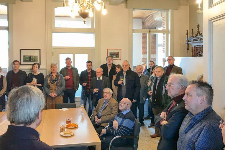 De leden van Ter Palen kregen het nieuws over een noodgedwongen verhuis tijdens hun nieuwjaarsreceptie te horen.